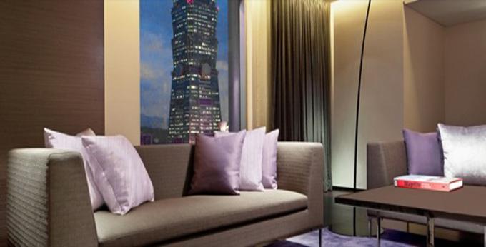 台北寒舍艾美酒店房间室内图、外观图