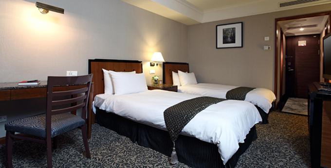 台中全国大饭店房间室内图、外观图