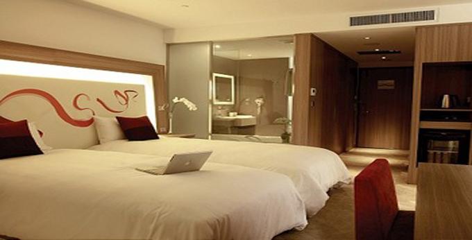 桃园诺富特华航桃园机场饭店房间室内图、外观图