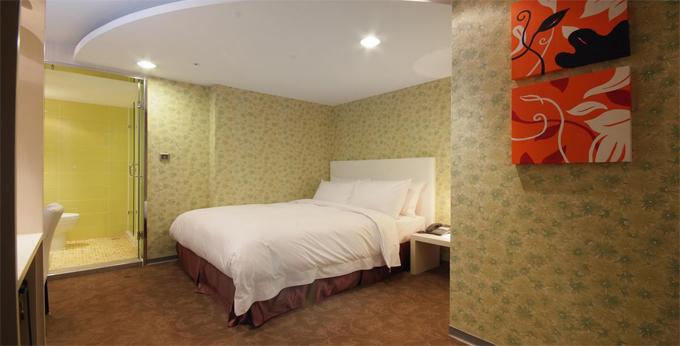 台中达欣商务精品饭店房间室内图、外观图