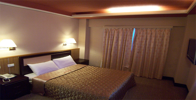 台北城美大饭店房间室内图、外观图