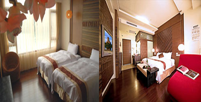 南投米洛克饭店房间室内图、外观图