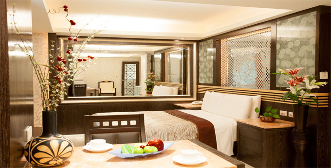 台北豪丽旺精品商务旅馆房间室内图、外观图