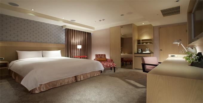 台北商旅官邸饭店房间室内图、外观图