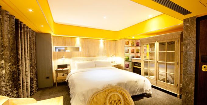 台北薆悦酒店房间室内图、外观图