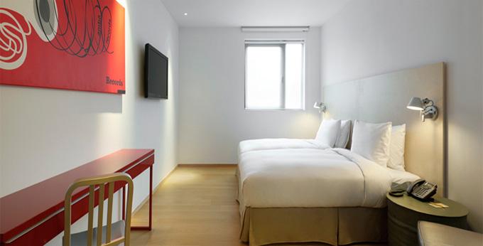 台北意舍饭店房间室内图、外观图